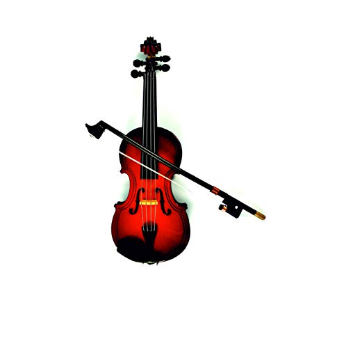 LS Realistic Wood Violin Musical Instrument,Christmas Ornament Holiday Accessories (5.1inch/13CM) ()