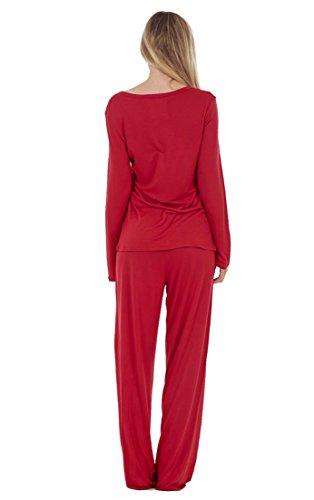 ex faMouS store - Pyjama pour femme à manches longues avec imprimé animal, adorable imprimé ours