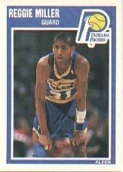 1989 Fleer Basketball Card (1989-90) #65 Reggie Miller