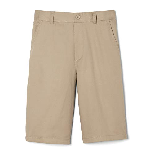 French Toast Boys' Husky' Pull-On Short, Khaki, 16H