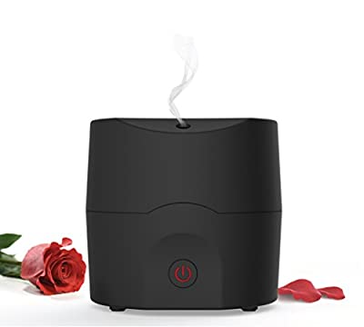 Alpha Aroma Best essential Oil Diffuser, Scent and fragrance ultrasonic Aromatherapy - Now with Belgian Design, 160ml, Extra Long Cord, Timer, Auto Shut Off, Soft Rubber Black Paint