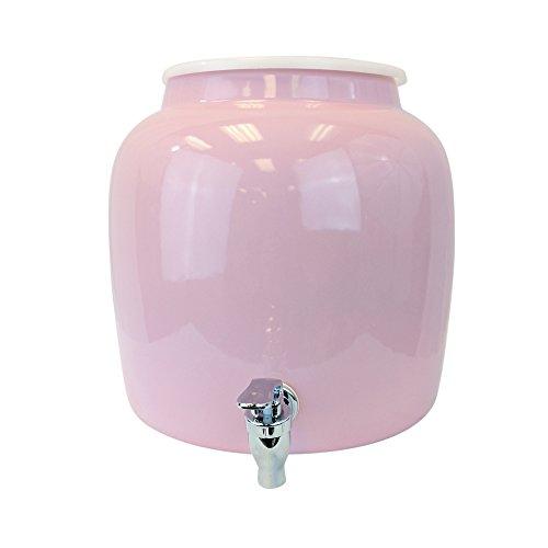 For Your Water 2.5 gal Porcelain Water Dispenser Crock Pink (Large Image)