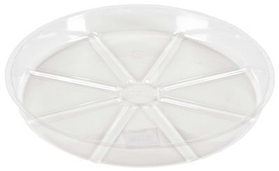 (300) ea Woodstream VS8 8'' Clear Vinyl / Plastic Plant Saucers by Gardener's Blue Ribbon