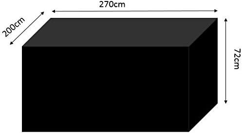 HBCOLLECTION Premium Polyester Telo di Copertura per Tavolo da Esterno Giardino 270cm