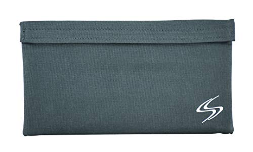 Smell Proof Bag - Smart Stash Pouch 11x6 for Herbs, Weed Grinder, Pipe   Large Odor Lock Container - Carbon Lined for Discreet Odorless Travel Storage - Store Papers, Pax, Vape, Mylar Baggies (Gray)