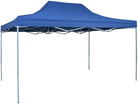 vidaXL Carpa de Fiest Jardín Plegable Pop-up Acero Tela Azul 3x4, 5 m Cenador: Amazon.es: Jardín