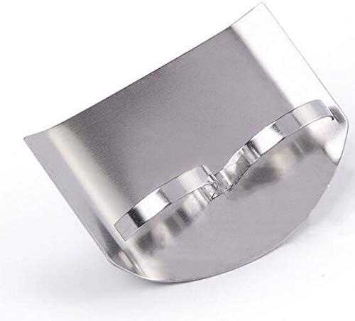 ステンレス鋼指ハンドプロテクター安全なスライスナイフキッチンツール2本の指-シルバー