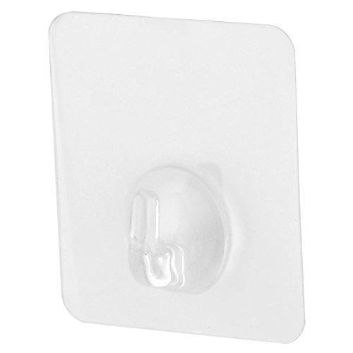 eDealMax plástico rectángulo auto adhesivo Inicio Toalla Ropa lazo colgante de puerta de la pared del gancho Claro - - Amazon.com
