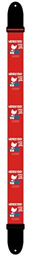 Perris Leathers LPCP-8133 Woodstock Guitar Strap, Peace Love Music - Red