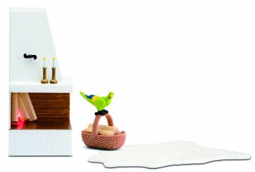 Lundby Smaland Dollhouse Corner Fireplace Set