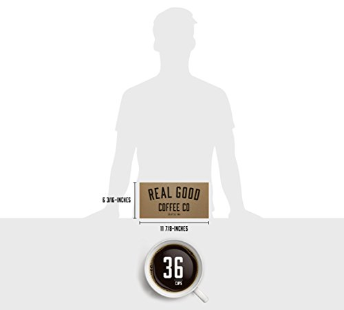 Real Good Coffee Co Recyclable K Cups, Variety Pack, Keurig 2.0 and 1.0 Compatible, 36 Single Serve Coffees