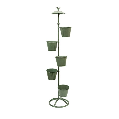 Fresh American Garden Balconies Decorative / Retro Iron Decorative Ornament / Outdoor Gardening ( Size : 28130cm ) by Flower racks
