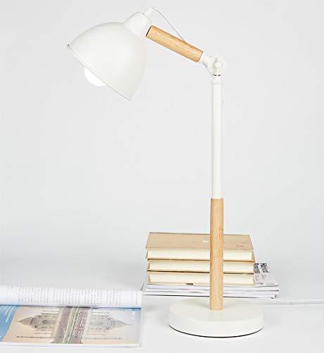 Arm Swing Vintage (URBANSEASONS Metal+Wood Desk Lamp, Vintage Swing Arm Table Lamp, Adjustable Desk Reading Light with E26 Sized Screw Base for Living Room, Bedroom, Study, Office, Bedside Nightstand Lamp)