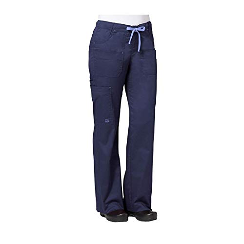 Cotton Cargo Pocket Pants - Maevn Women's Utility Cargo Pants(Navy, Large)
