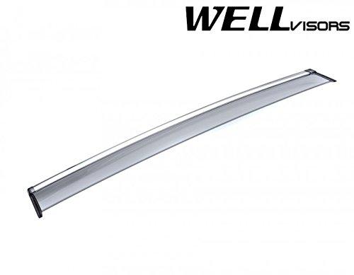 WellVisors Side Rain Guard Window Visors Deflectors With Chrome Trim For 08-15 Toyota Venza 2008 2009 2010 2011 2012 2013 2014 2015 08 09 10 11 12 13 14 15