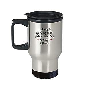 Utonagan Travel Mug - AA197TM Funny Dog Lover Coffee Tumbler Cup For Mom Grandma Women Her Trainer Owner Breeder Caffeine Novelty Present 3
