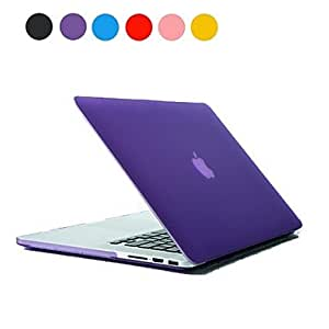 "ZCL Solid Color Frosted PC Hard Case for MacBook Pro Retina 15""(Assorted Colors) , Pink"