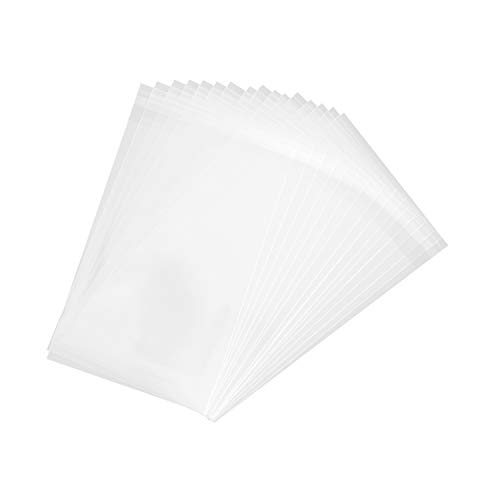 100 Pcs Clear Resealable Cello/Cellophane Bags Great for Bakery Candy Cookies Party Favors, 4