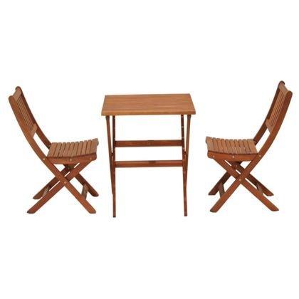 Austin de madera mesa de jardín (2 sillas plegables: Amazon ...