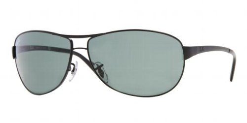 4c785ea7bb Image Unavailable. Image not available for. Colour: RAY BAN 3342 006 MATTE  BLACK AVIATOR SUNGLASSES 63mm