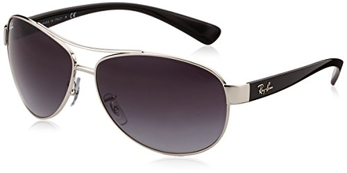 Ray-Ban RB3386 - SILVER Frame GREY GRADIENT Lenses 63mm - Ray Ban Silver Sunglasses
