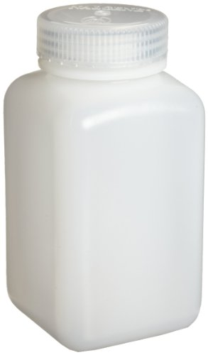 Nalgene 2114-0032 Square Bottle, Wide-Mouth, HDPE, 1000mL (Pack of (Nalgene Wide Mouth Square Storage)