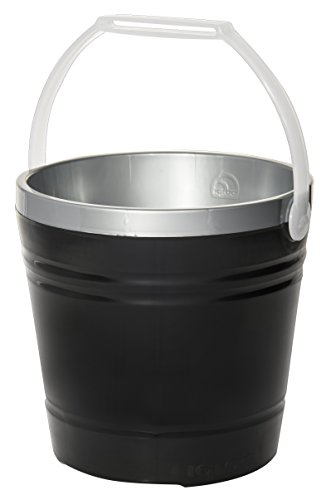 Styrofoam Ice Buckets For Parties (Igloo Insulated Party Pail, Black/Silver, 10)