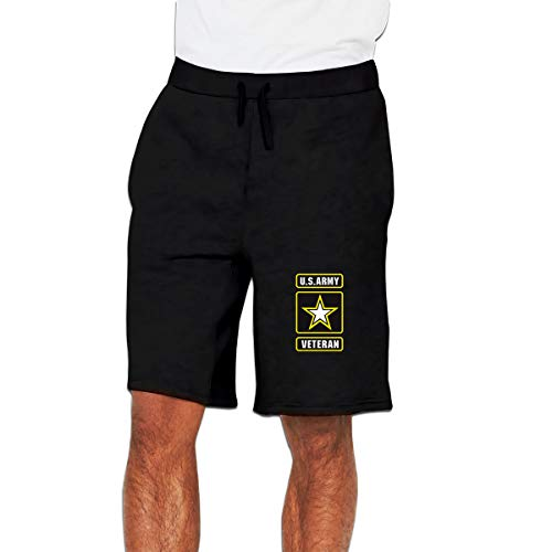 U.S. Army Veteran Men's Casual Shorts Elastic Jogger Gym Sport Shorts ()