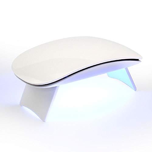 Smart Nail Dryer Phototherapy Nail Machine 6W Mini Foldable USB Interface Portable Mouse Button Type Nail Lamp,White