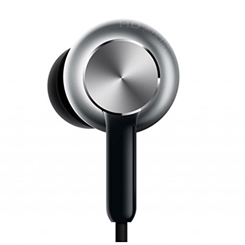 Xiaomi QTEJ02JY Original MI Circle Iron Hybrid Earphone Headphone Headset Earbud In-Ear Remote & Mic-Silver Pro HD version