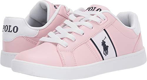 Polo Ralph Lauren Kids Girl's Quigley (Big Kid) Light Pink Smooth/White/Navy/Navy Pony 6 Big Kid (Shoes Girls Ralph Lauren)