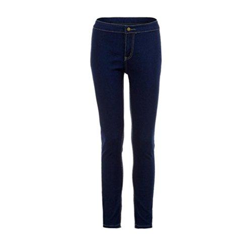 Haut Leggings Pants Vintage Stretch Pantalon Skinny Bleu Rtro Jeans Collants Haute Crayon SANFASHION Denim Broderie Taille Taille Femmes Fit Slim Xxgq0w46HX