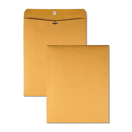 (Quality Park 37805 Quality Park Clasp Envelopes, 11-1/2x14-1/2, 32lb, Brown Kraft, 100/Box)