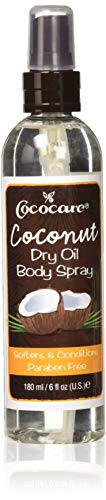 - Cococare Coconut Dry Oil Body Spray, 6 Ounce