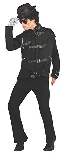 Michael Jackson Deluxe Bad Buckle Jacket, Black, X-Large Costume]()