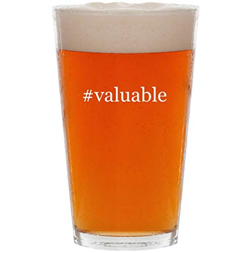 #valuable - 16oz Hashtag Pint Beer Glass