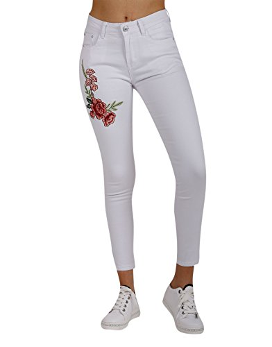 Blanc Jeans Femme Jean Miss Coquines YqZX0