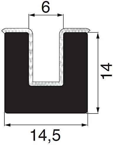 beflocktes Profil Flockprofil Samtschiene Meterware U-Profil Fensterf/ührungsprofil