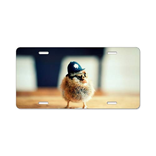 Teisyouhu Police Chick Animal Car License Plate Cover Framed Tag Cover Durable Aluminum License Plate Frame for - Framed Chicks