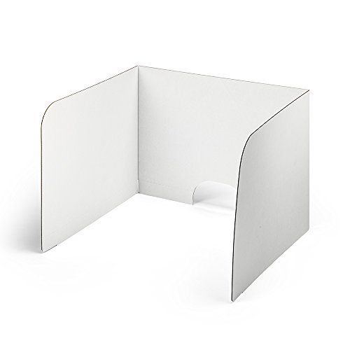Classroom Computer (Classroom Products Computer Privacy Shield 19 Inch Tall - White - (Pack of 20))