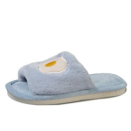 Cotone Wasdx Morbida Casa Pantofole Blu Coperta Fondo Inverno Antiscivolo Di Nuova Femminile Spesso UT4FTpnH
