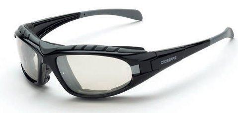 12 Pack Crossfire 2724AF Diamondback Safety Glass Clear Anit-Fog Lens - Foam Lined Matte Black Frame by - Foam Sunglasses Lined