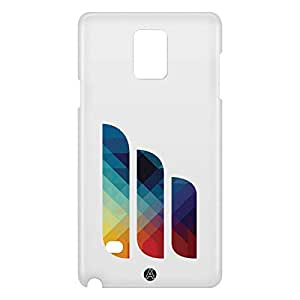 Loud Universe Samsung Galaxy Note 4 3D Wrap Around Lines Print Cover - Multi Color