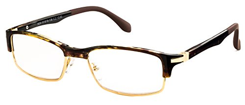 Specs Brown Tortoise Reading Glasses - Extra Sturdy Build - Glasses Specs
