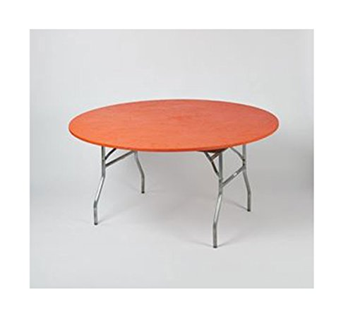 - Kwik Covers 60 inch Round Orange Fitted Table Cover - single