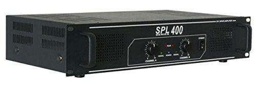 Skytec SPL400 Hifi DJ PA Verstärker 1200 Watt Endstufe Equalizer mit blauen LED Lichteffekt schwarz