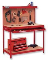 WORKBENCH & DRAWER + PEGBOARD, RED BPSCA CWB-R1 - SG32941 By CLARKE INTERNATIONAL