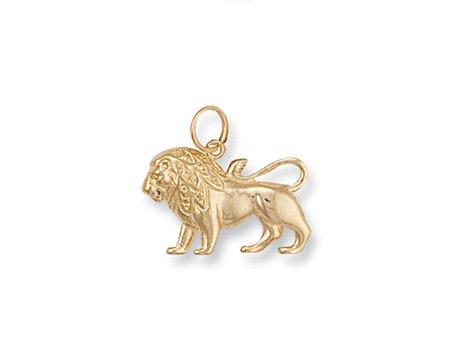 Or jaune 9 carats avec pendentif Charm signe du zodiaque du lion