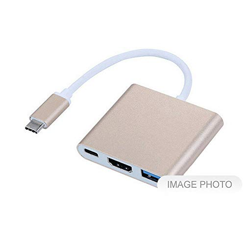 FidgetKute USB-C USB 3.1 Type C to HDMI AV USB A USB-C Female Charger Adapter Cable Show One Size by FidgetKute