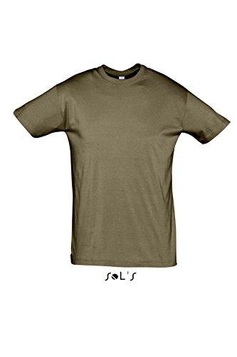 Sols - Regent - Unisex Rundhals T-Shirt , Army , L